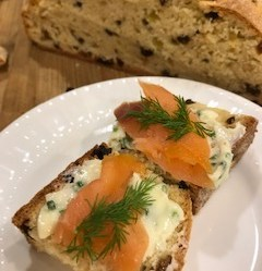 Salmon Chive Butter Dill Irish Soda Bread