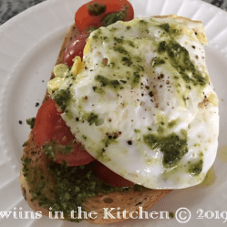 Pesto Egg & Tomato Breakfast on toast