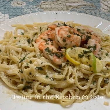 Serve over linguine pasta