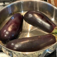 Cooking eggplants