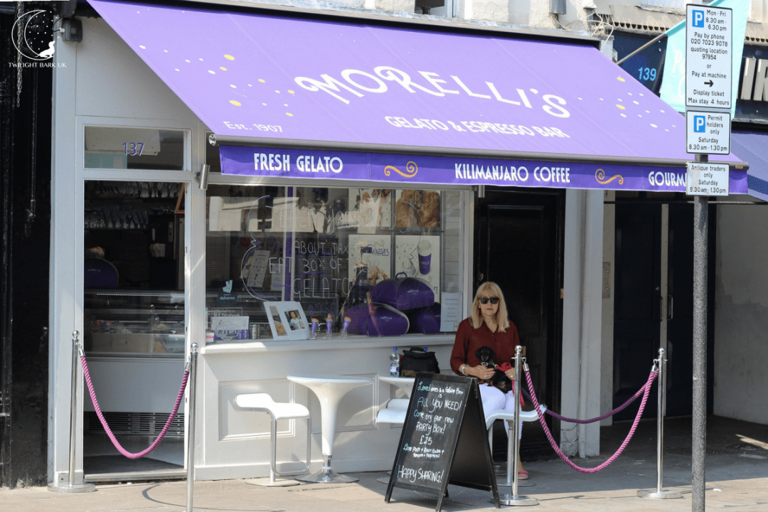 View of Morelli's Gelato Notting Hill