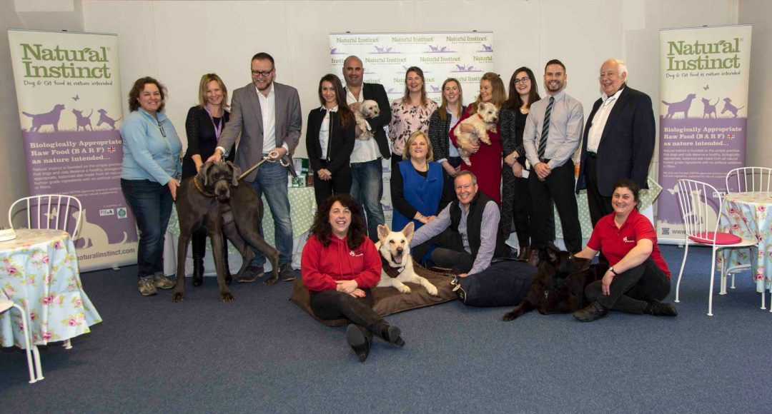 Main sponsors; Competition hosts; GSRE founding members and staff from Natural Instinct gather to celebrate Buster's win