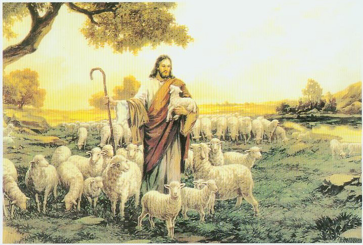 Jesus with the Sheep that was Lost