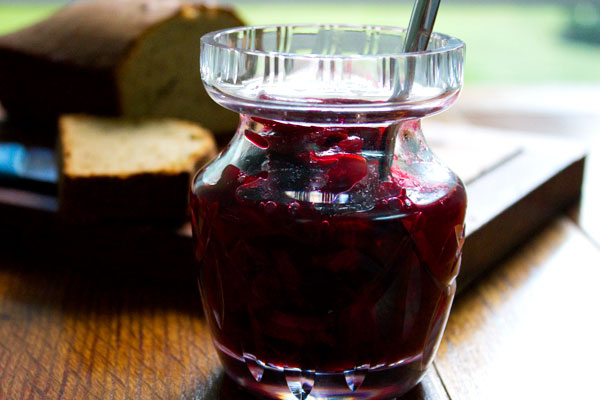 Compote of Cherries with Gluten-free Spiced Breakfast Loaf