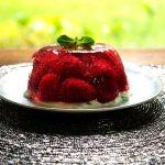 A Jelly of Fresh Raspberries with Fresh Mint Cream