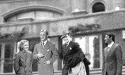 Jean Arthur and Douglas Fairbanks Jr.