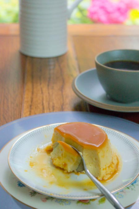 Creme Caramel with coffee