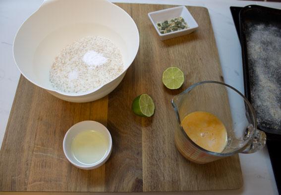 ingredients for vegan wholemeal scones