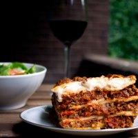 Tomato, Mushroom and Olive Lasagne