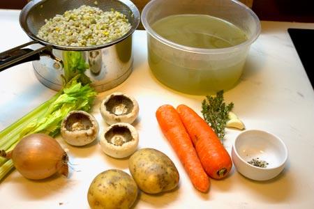 ingredients for vegetable broth