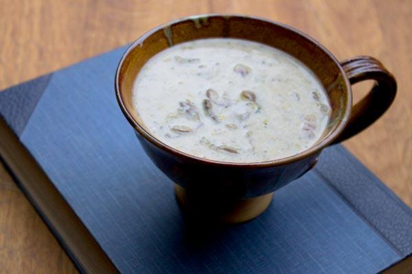 mushroom creme fraiche soup