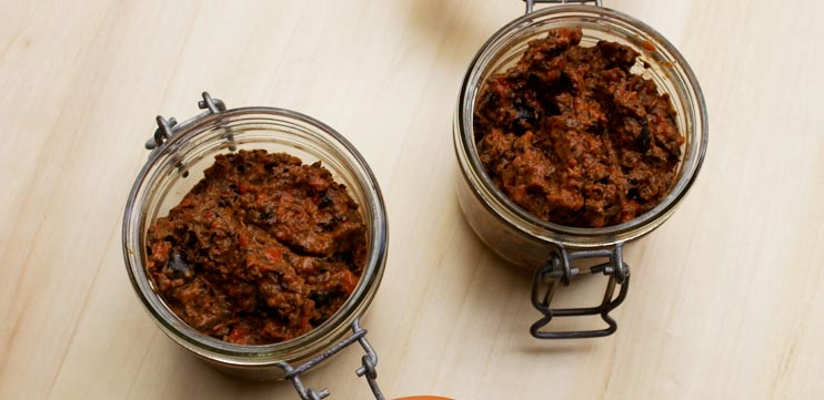 Roasted Red Pepper, Sundried Tomatoes and Black Olive Tapenade