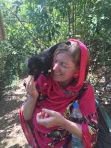 me and a lemur