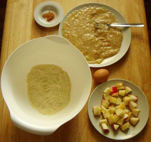 ingredients for guilt-free cinnamon apple cake