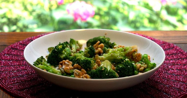 Broccoli and Peas with Nuts and Seeds