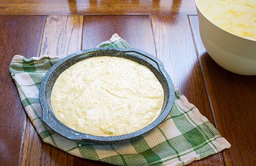 savoury cake pre-bake