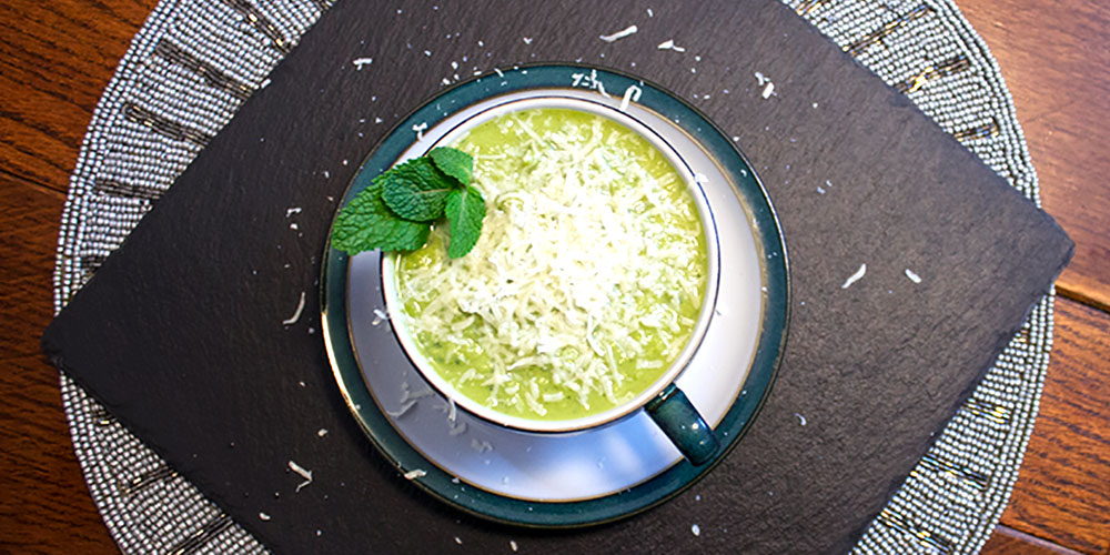 Easy Peasy Pea Mint Soup