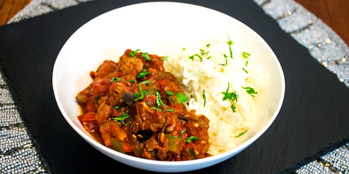 Spiced Lamb in Tomato Sauce