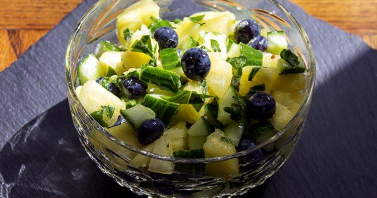 Salted Pineapple and Basil Salad