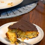 Orange Polenta Cake with a little bit of Chocolate