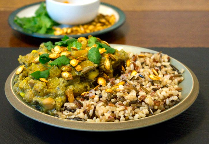 Hot and Nutty Vegan Curry