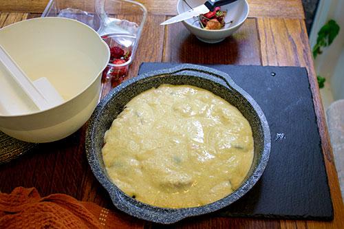 Cake ready to bake