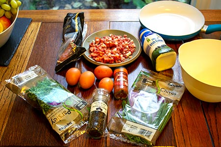 Hungarian scrambled eggs ingredients