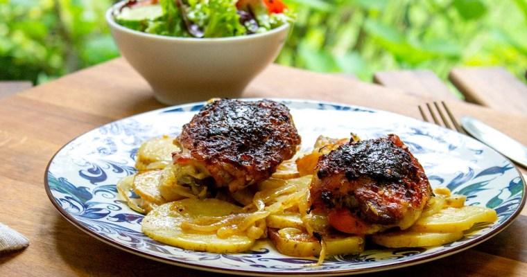Baked Portuguese Chicken Dinner