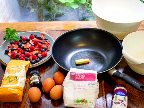 ingredients-for-vanilla-souffle-omelette