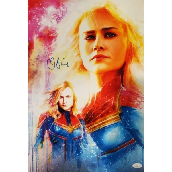 Rob Prior Captain Marvel print signed by Brie Larson