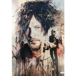 Rob Prior Daryl Dixon print signed by Norman Reedus