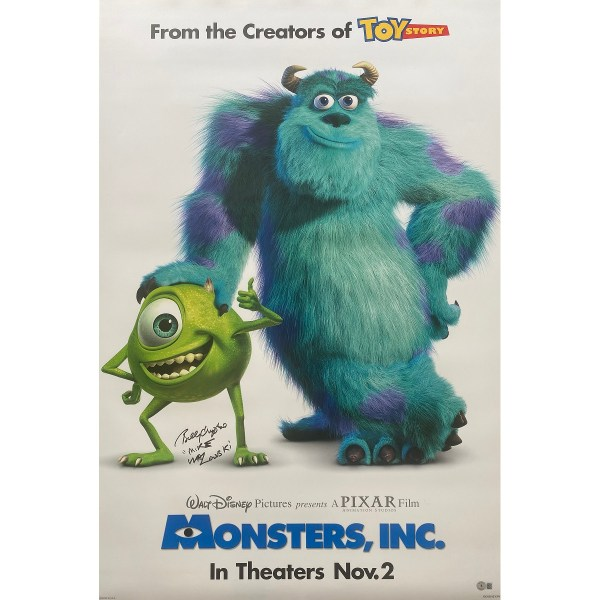 Billy Crystal Signed Monsters Inc DS Poster w/ Mike Wazowski
