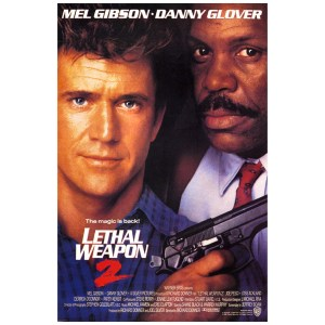 Mel Gibson Signed 27x40 Lethal Weapon 2 Poster