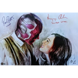 Rob Prior WandaVision print signed by Elizabeth Olsen and Paul Bettany