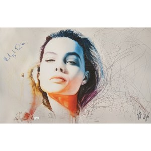 Rob Prior print signed by Margot Robbie
