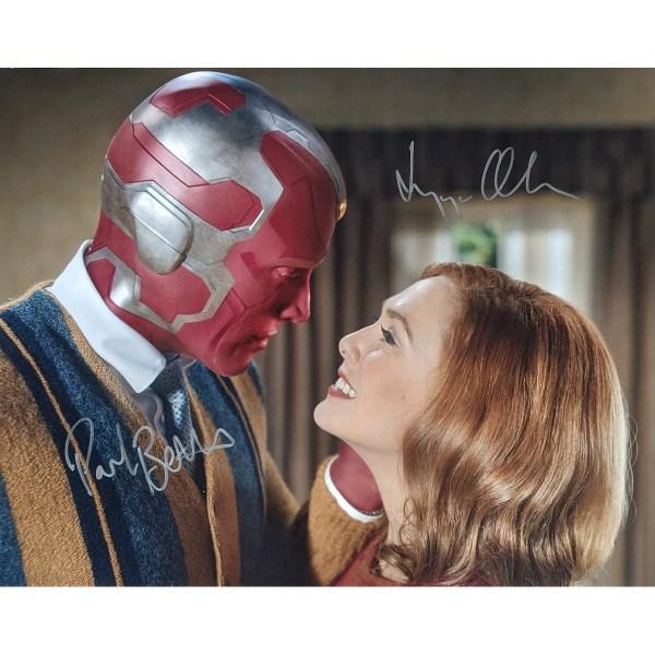 Elizabeth Olsen and Paul Bettany Signed WandaVision 16x20 #2