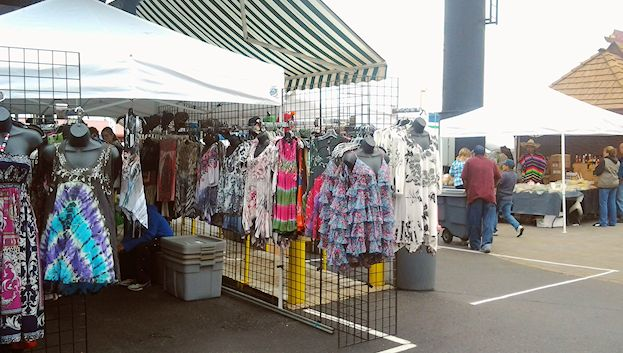 Clothes Booth at the Farmers Market Annex