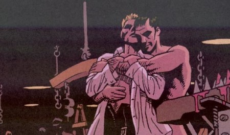 Constantine with boyfriend S.W. Manor in Hellblazer #173