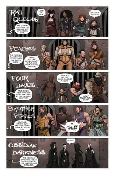 Page of Rat Queens comic