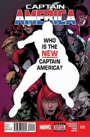 The cover for Captain America issue #25