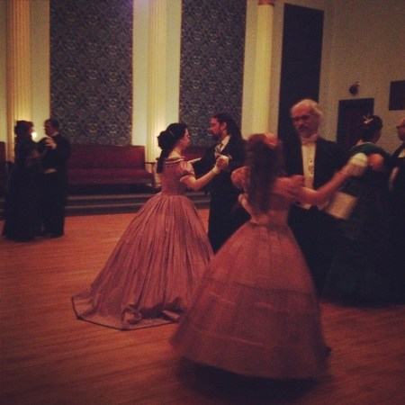 Waltzing under the candlelight at the 2015 Winter Ball.