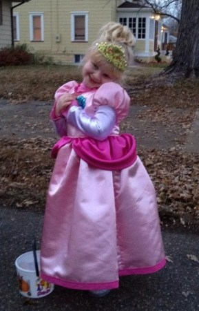 Princess Peach at Halloween