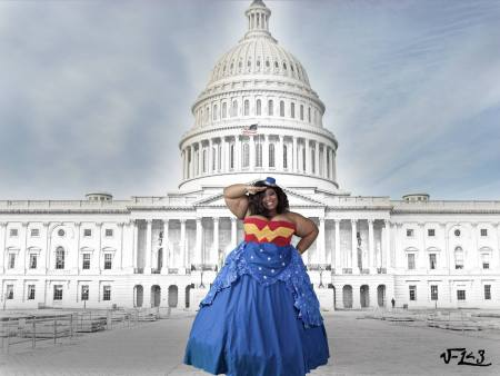 Brichibbi Cosplays as Wonder Woman (Photo by Ilessthan3photography)