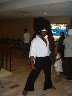 Ninjabearbear09 as Afro Samurai at Anime Detour