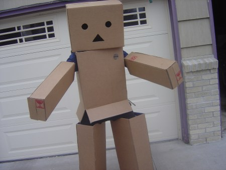 Ninjabearbear09 as the Amazon Box Robot