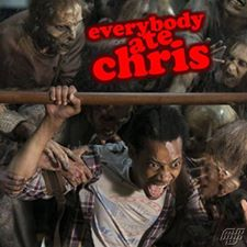 "Noah being dragged off by the walkers caption read ""Everybody ate Chris"""