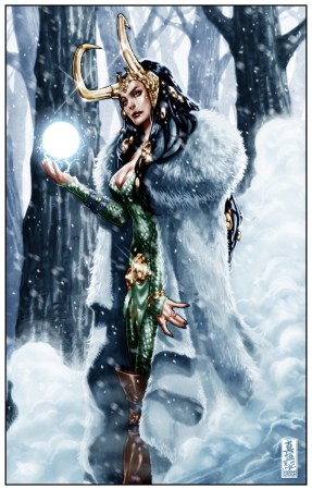 An image of Loki when Sif has control over their body (via Marvel comics)