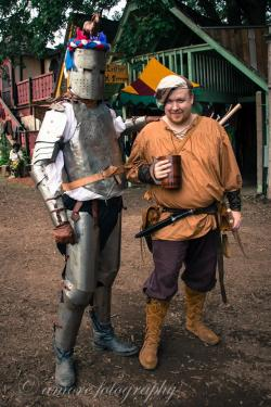 Knight Sir Tedward, in amor, with his squire