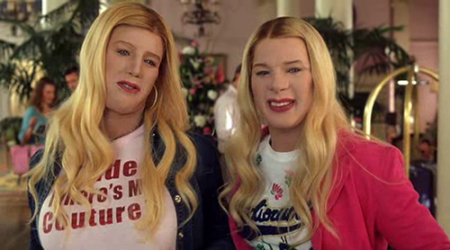 "Shawn and Marlon Wayans in ""White Chicks."""
