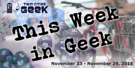 This Week in Geek header for the week of November 23, 2015